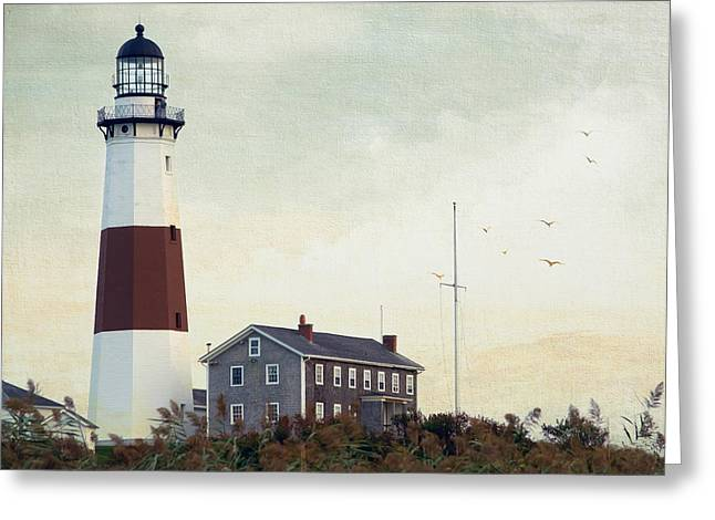 Montauk Dusk Greeting Card by Keith Armstrong