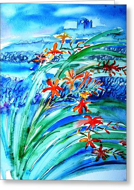 Montbretia On Inisheer  Greeting Card by Trudi Doyle