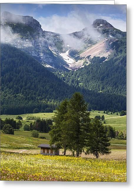 Monte Bondone Greeting Card by Alfio Finocchiaro