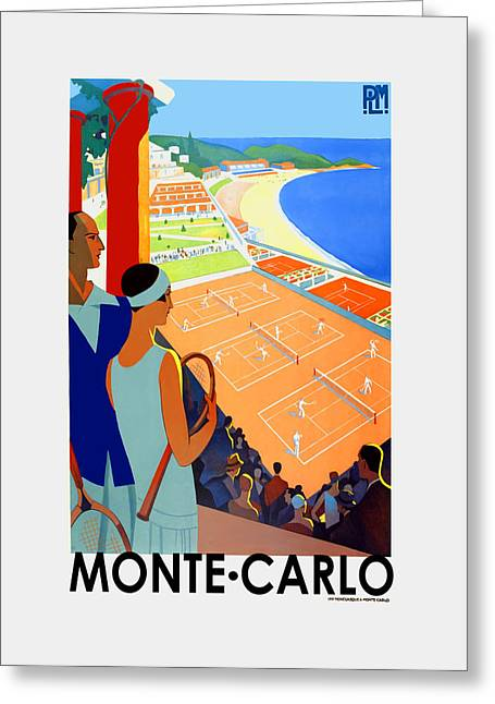 Monte Carlo 1930 Greeting Card by Mark Rogan