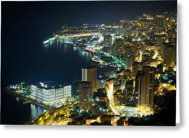 Monte Carlo By Night  Greeting Card by Ioan Panaite