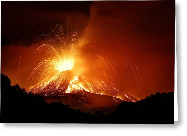 Monte Etna Greeting Card