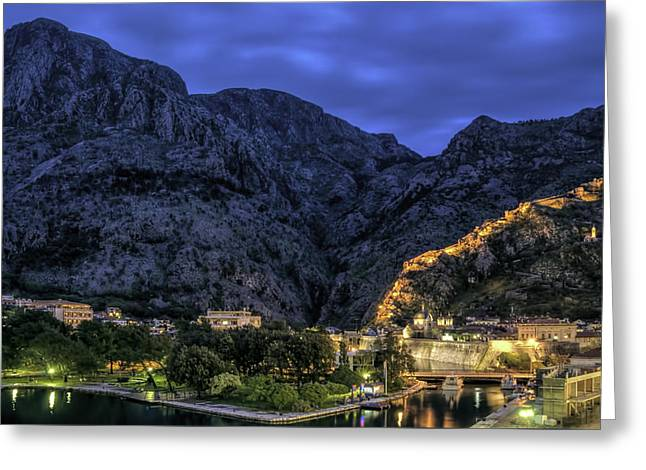Montenegro Greeting Card by Maria Coulson