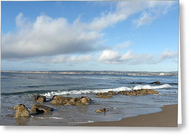 Monterey Bay Beach Scenic View Greeting Card by Carol M Highsmith