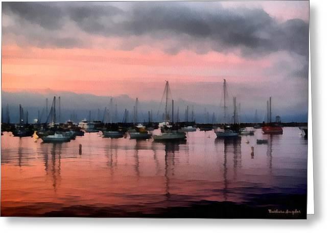 Monterey Bay Pink Watercolor Greeting Card