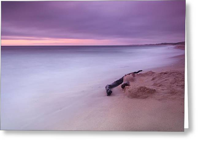 Monterey Beach Sunset Greeting Card by Chris Frost