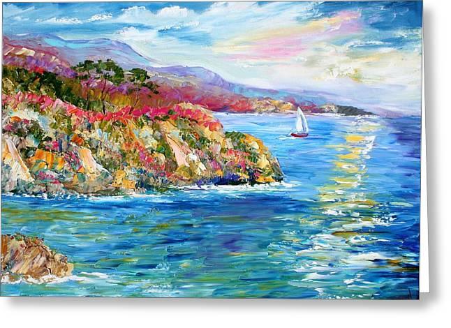Monterey California Spring Greeting Card by Karen Tarlton