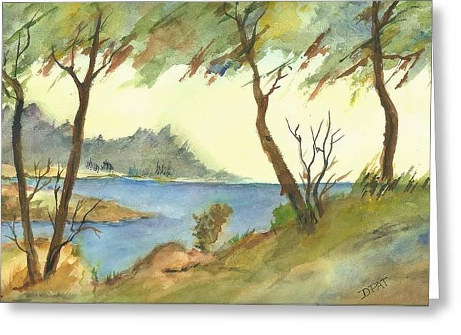 Monterey Cypress-carmel Greeting Card