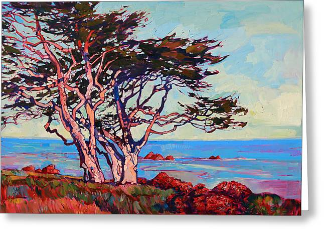 Monterey Diptych Right Panel Greeting Card by Erin Hanson