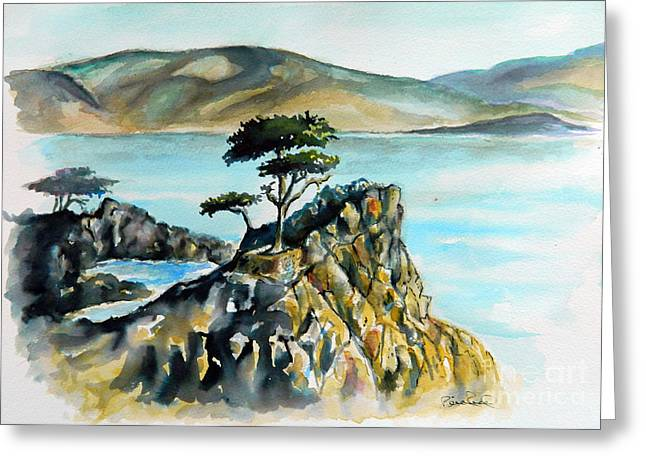 Monterey Pines Greeting Card by William Reed