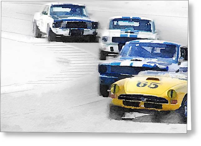 Monterey Racing Watercolor Greeting Card