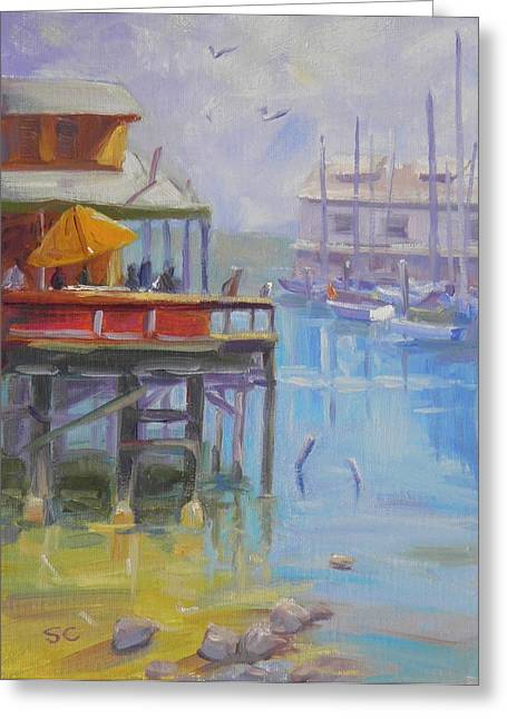 Monterey Wharf Greeting Card