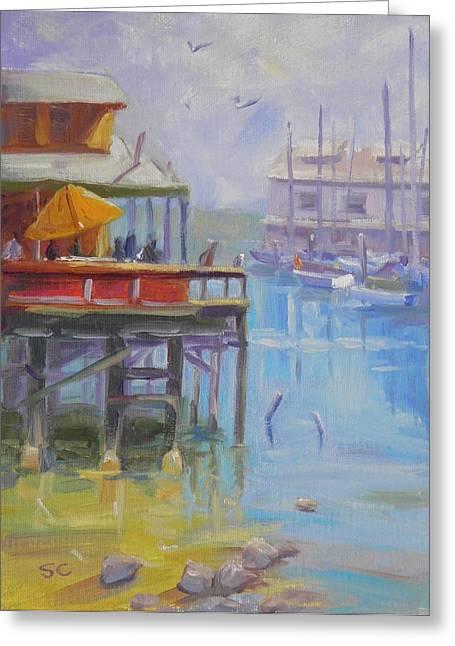 Monterey Wharf Greeting Card