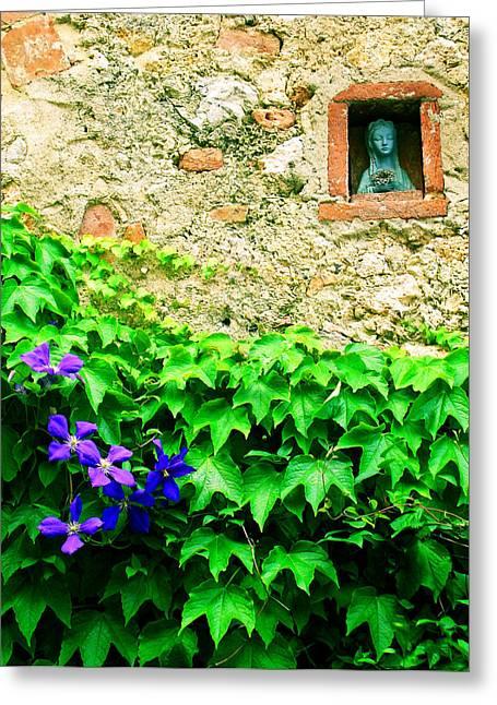 Monteriggioni Virgin Greeting Card by Maria Huntley
