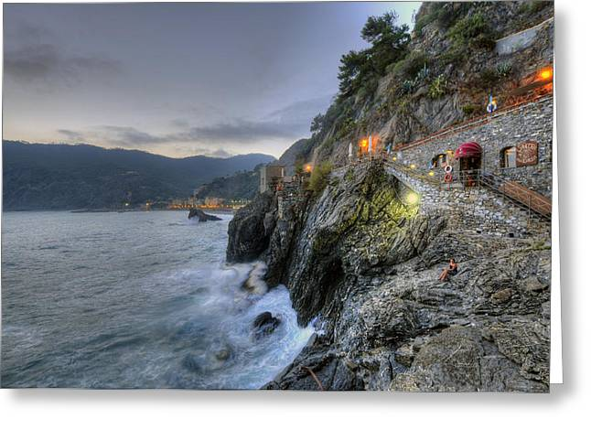 Monterosso At Sunset Greeting Card