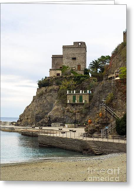 Monterosso Harbor Pier Greeting Card