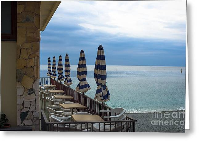 Monterosso Outdoor Cafe Greeting Card