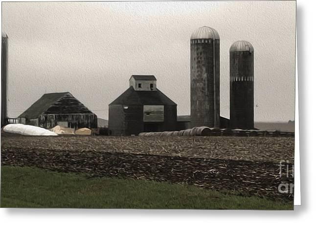 Montezuma Iowa - Farm Greeting Card by Gregory Dyer