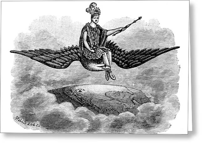 Montezuma, Pueblo Indian God King Greeting Card by British Library