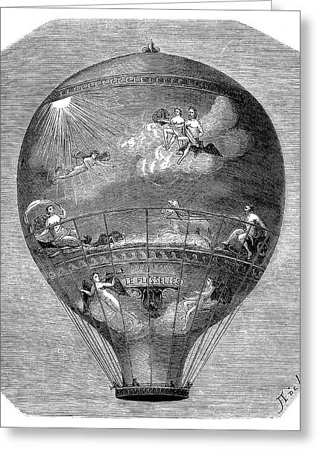 Montgolfier 'le Flesselles' Balloon Greeting Card