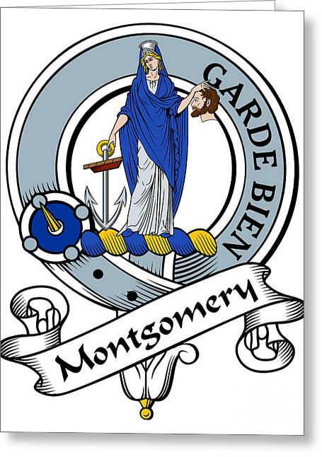 Montgomery Clan Badge Greeting Card by John Lehman