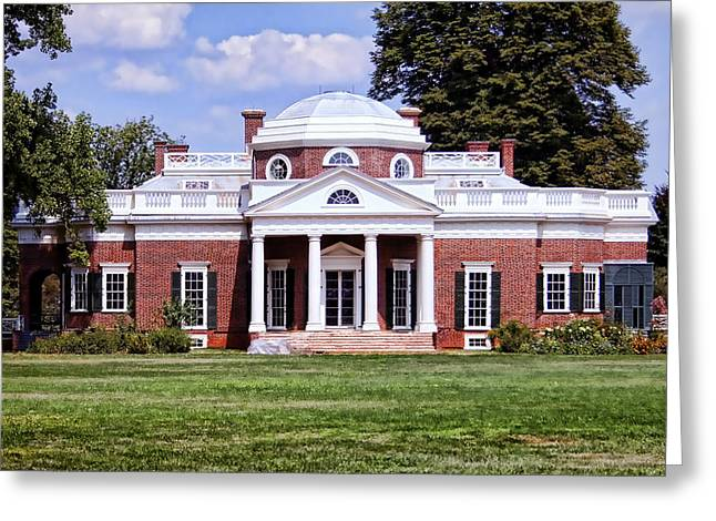 Monticello Greeting Card by Heather Applegate