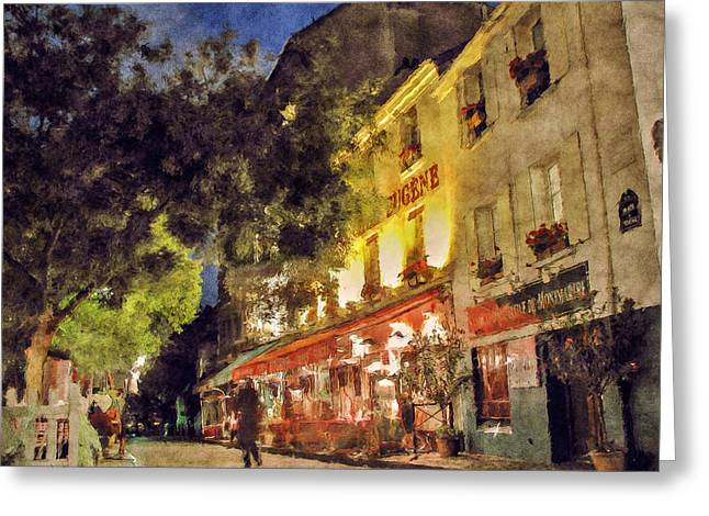 Montmartre Greeting Card by Celso Bressan