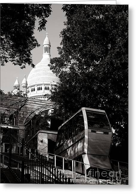 Montmartre Funicular  Greeting Card by Olivier Le Queinec