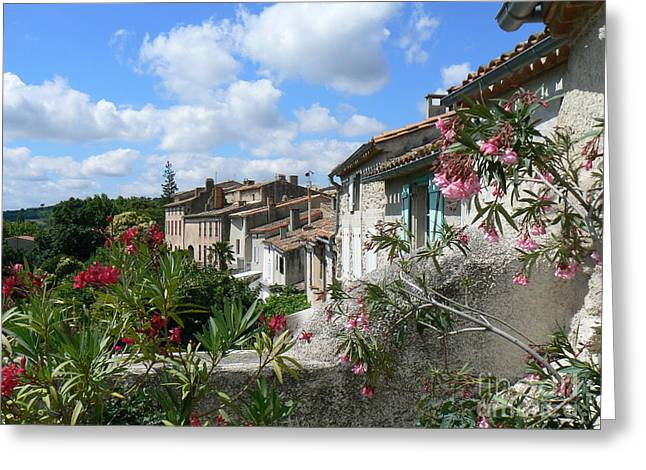 French Hilltop Terraces Greeting Card by France  Art