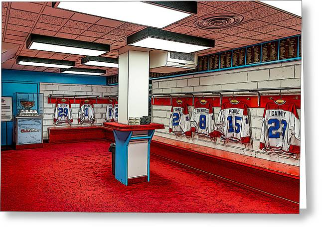Montreal Canadians Hall Of Fame Locker Room Greeting Card