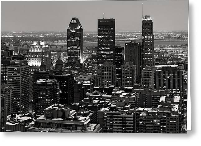 Montreal City Greeting Card by Pierre Leclerc Photography