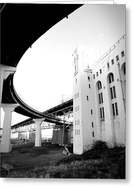 Montreal Harbour Bridge Casino Greeting Card by Eric Soucy