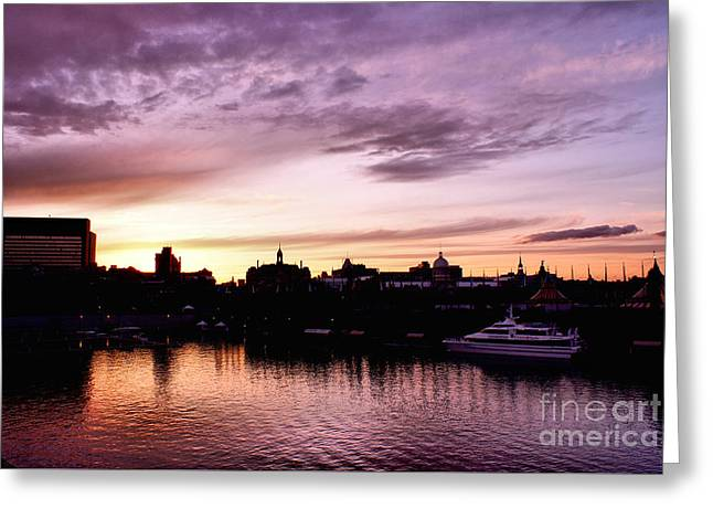 Montreal Old Port Sunset Greeting Card