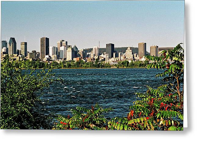 Montreal - Sur Le Fleuve  Greeting Card by Juergen Weiss