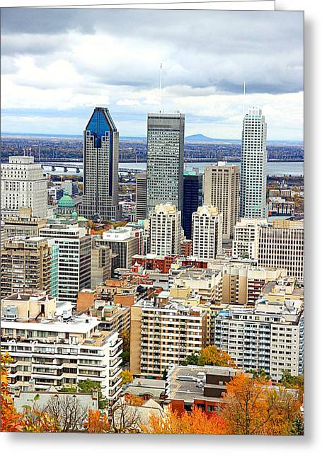 Montreal View Greeting Card by Valentino Visentini