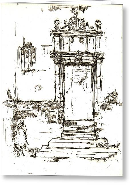 Montresor Chapel Doorway 1840 Greeting Card by Padre Art