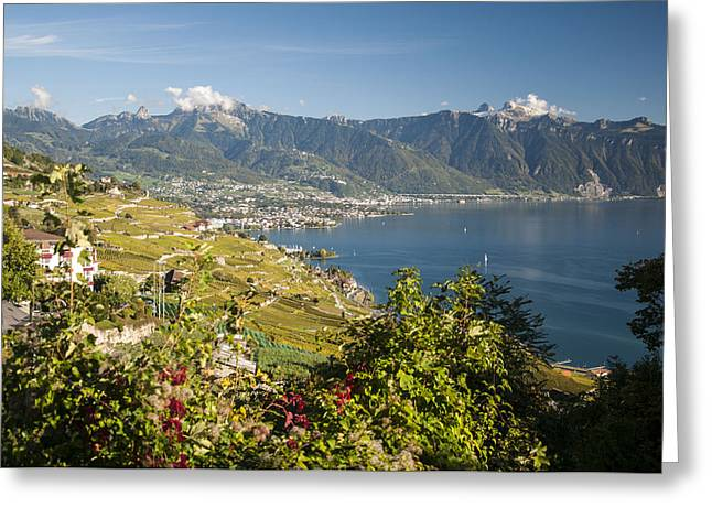 Montreux On Lake Geneva Greeting Card by Rob Hemphill