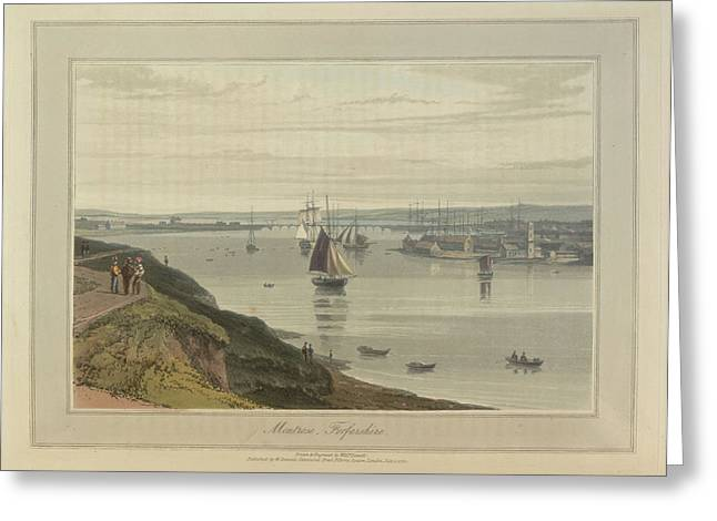 Montrose Port And Harbour In Forfarshire Greeting Card by British Library