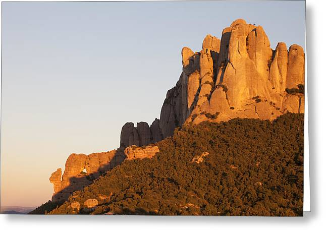 Montserrat At Sunset Greeting Card by Javier Fores