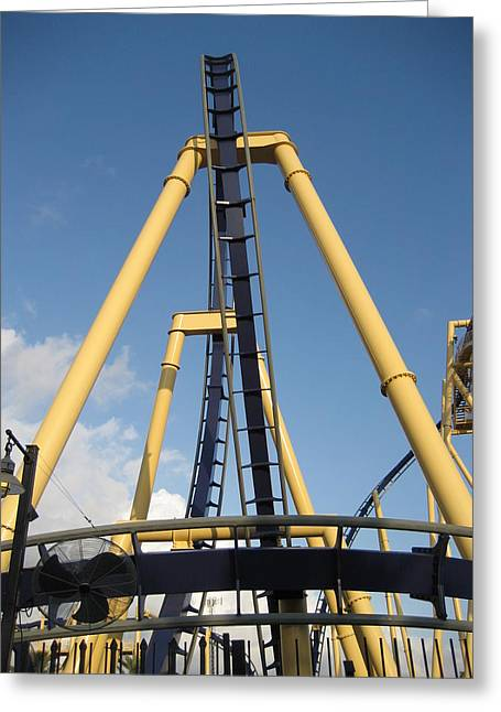 Montu Roller Coaster - Busch Gardens Tampa - 01133 Greeting Card by DC Photographer