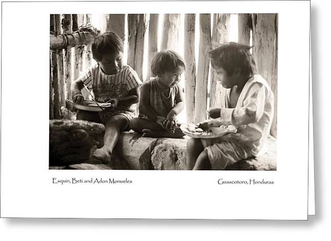 Greeting Card featuring the photograph Monueles Children by Tina Manley