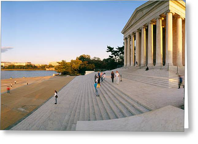 Monument At The Riverside, Jefferson Greeting Card by Panoramic Images