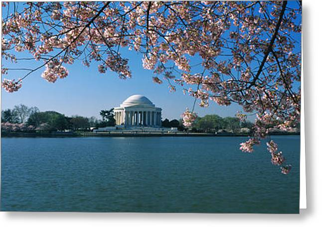 Monument At The Waterfront, Jefferson Greeting Card by Panoramic Images
