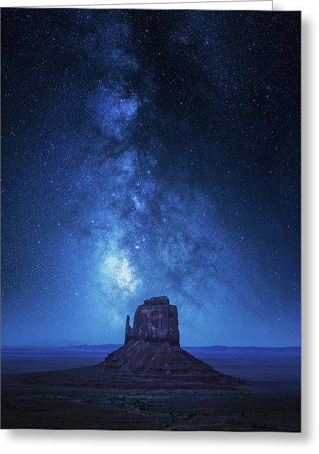 Monument Milkyway Greeting Card