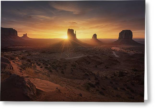 Monument Sunrise. Greeting Card