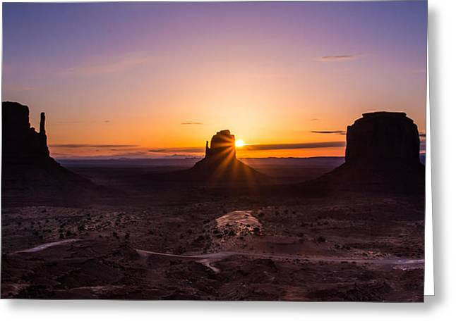 Monument Sunrise Greeting Card