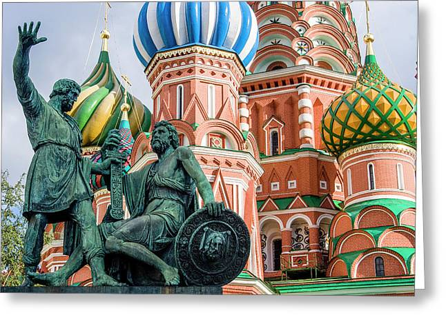 Monument To Minin And Pozharsky Greeting Card by Tom Norring