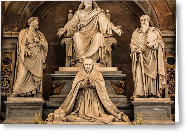 Monument To Pius Viii, Saint Peter S Greeting Card