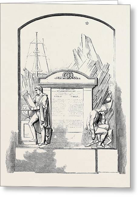 Monument To Sir John Franklin And His Companions Greeting Card