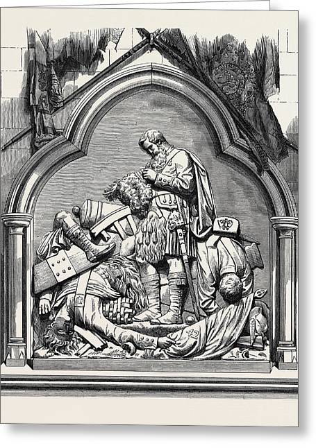Monument To The 42nd Highlanders In Dunkeld Cathedral 1874 Greeting Card by English School